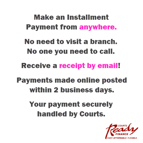Now you can pay your Ready Finance Installment with shopcourts.com